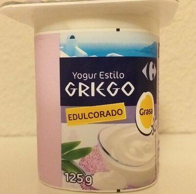 Yogur estilo griego Edulcorado - Producte - es