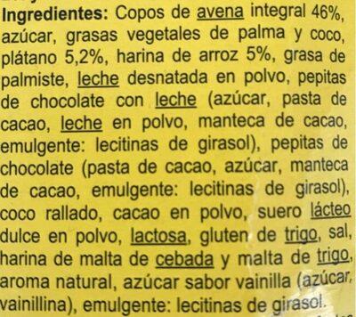 Crunchyplátano y pepitas - Ingredients