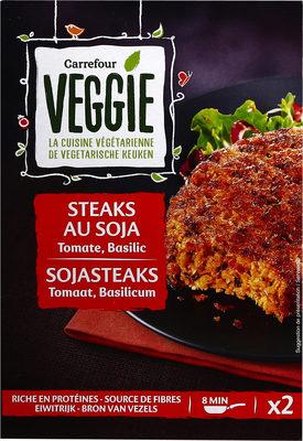 Steaks au soja tomate, basilic - Produit - fr