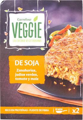 De soja zanahorias, judías verdes, tomate y maíz - Producto