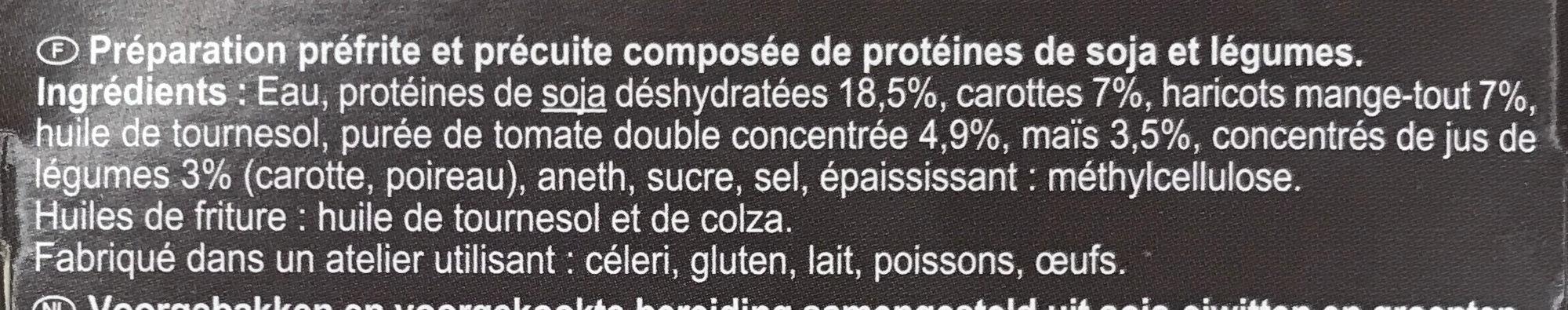 De soja zanahorias, judías verdes, tomate y maíz - Ingrédients - fr
