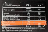 De soja zanahorias, judías verdes, tomate y maíz - Información nutricional