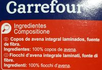 Copos de Avena - Ingredients