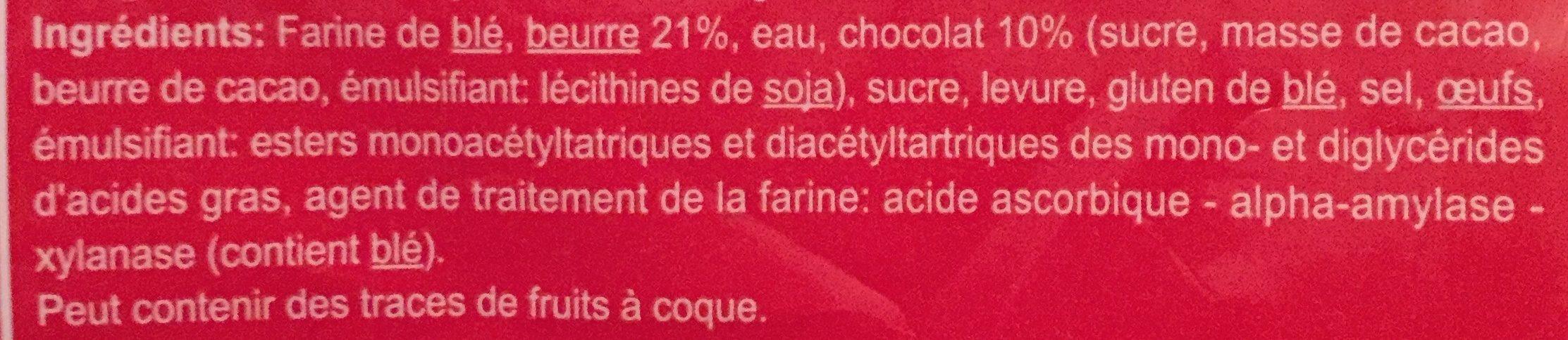 Pain au Chocolat - Ingredients - fr