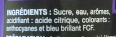 Sirop saveur violette - Ingredienti - fr