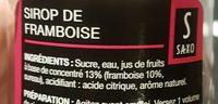 Sirop de framboise - Ingredienti - fr