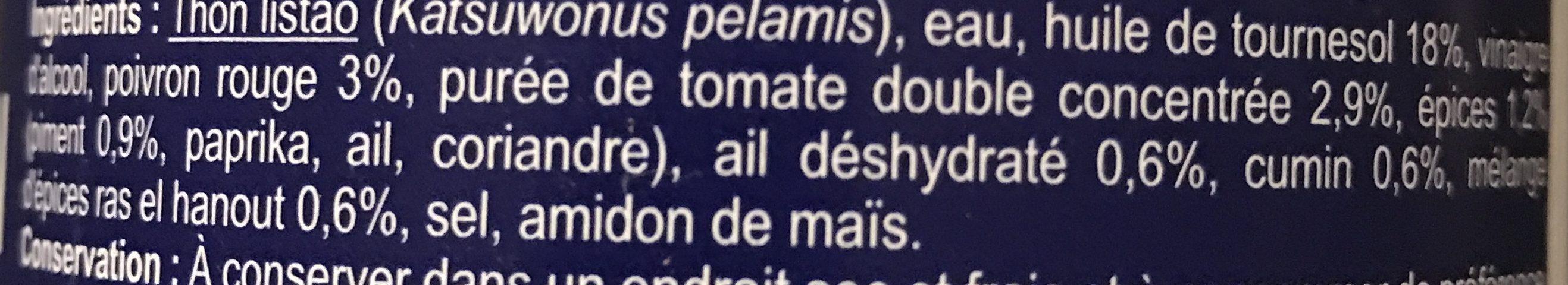 Miettes de Thon Sauce Tomate à la Harissa - Ingrédients