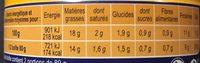 Miettes de Thon Sauce Tomate à la Harissa - Informations nutritionnelles