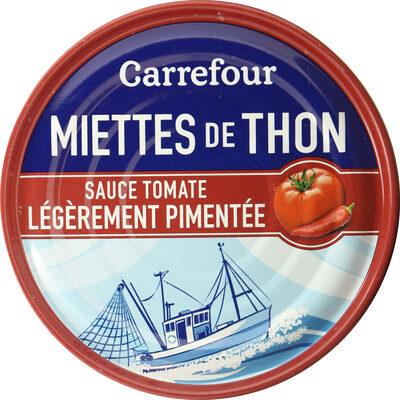 Miettes de thon sauce tomate légèrement pimentée - Prodotto - fr