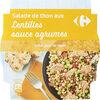 Salade de thon aux lentilles sauce agrumes - Product