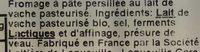 Fourme d'Ambert Bio - Ingredients - fr