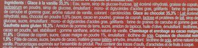 No Gluten !* Vanille & Chocolat - Ingredientes