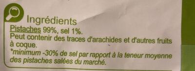 Pistaches grillées salées - Ingredienti - fr