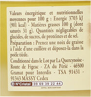 Graisse de canard du Sud-Ouest - Nutrition facts - fr