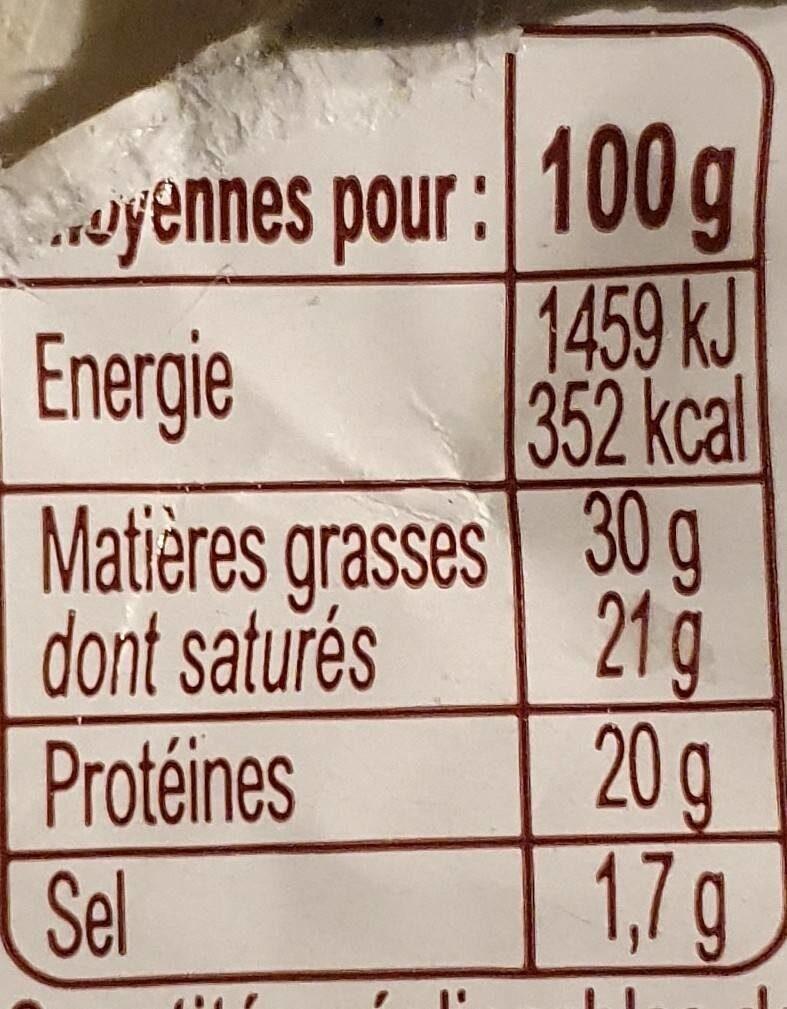 petit bleu crémeux Bio - Informations nutritionnelles - fr