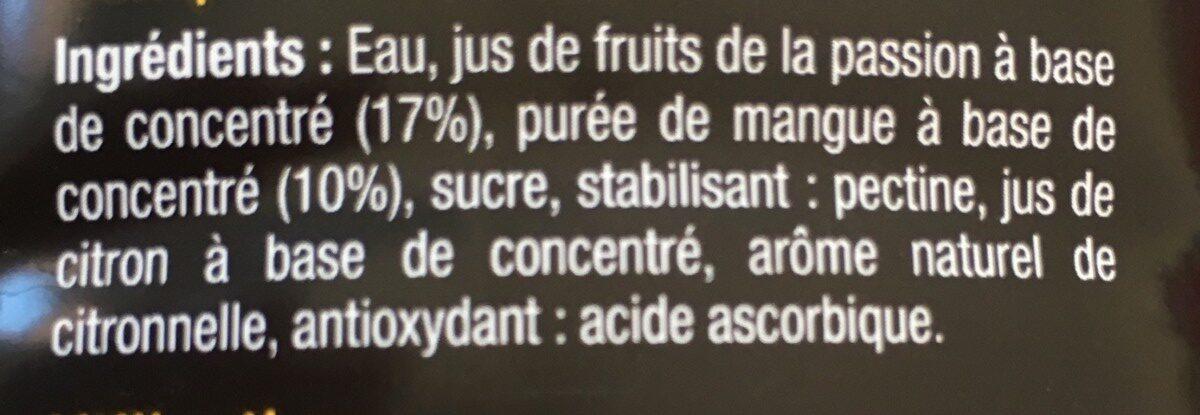 Passion Mangue - Ingrediënten