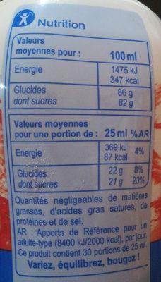 Fraise Banane - Valori nutrizionali - fr