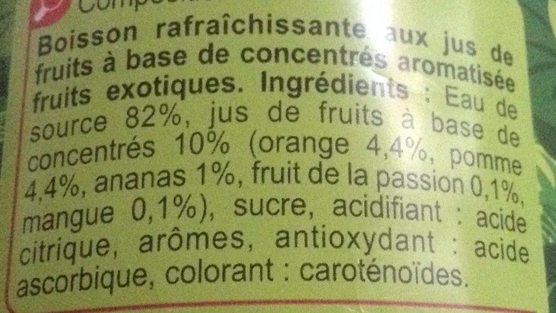 Saveur  tropical - Ingrédients