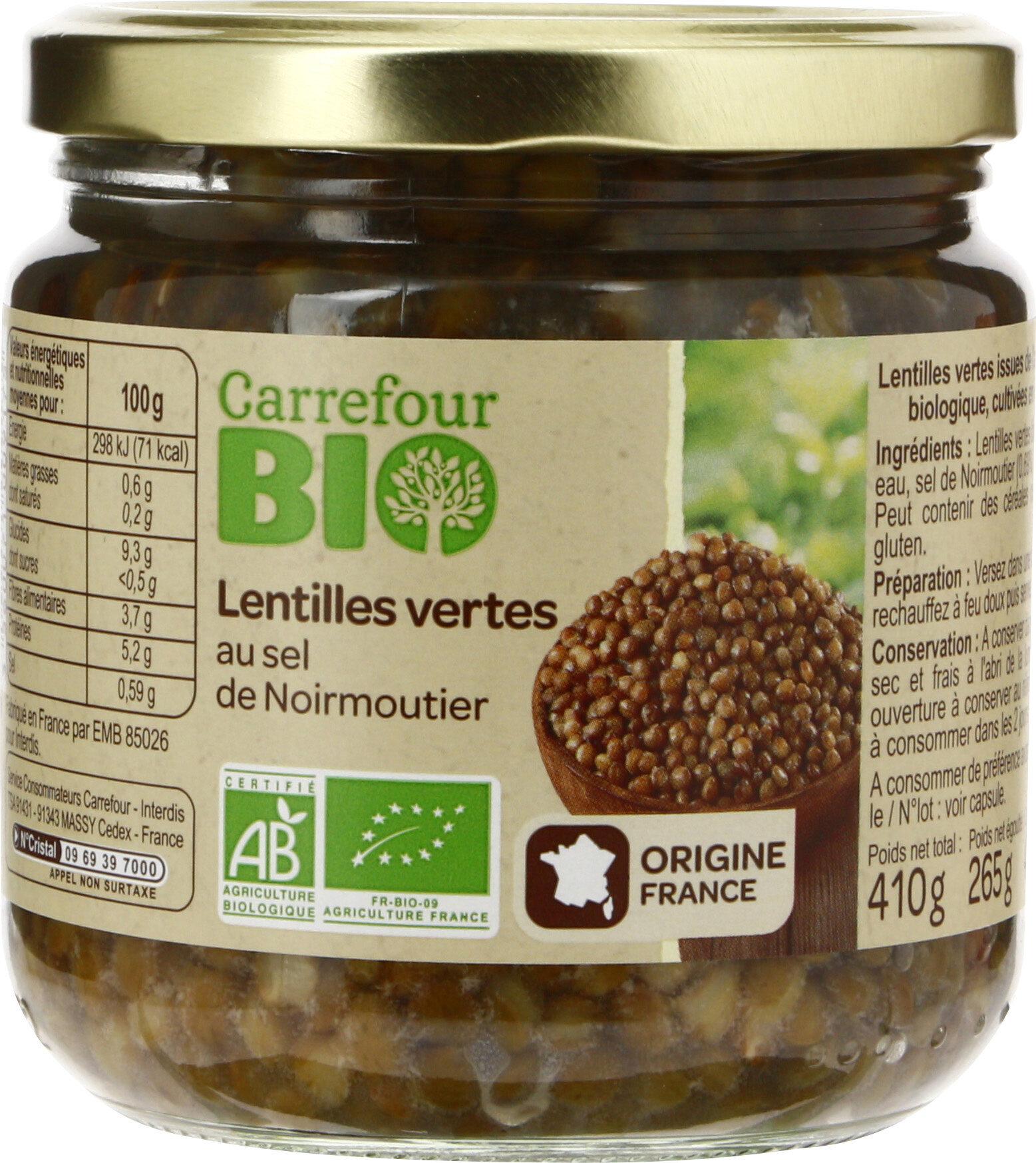 Lentilles vertes au sel de Noirmoutier - Produit - fr