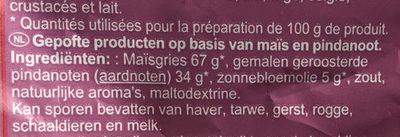 Biscuits apéritifs croustillants cacahuète - Ingrediënten - nl