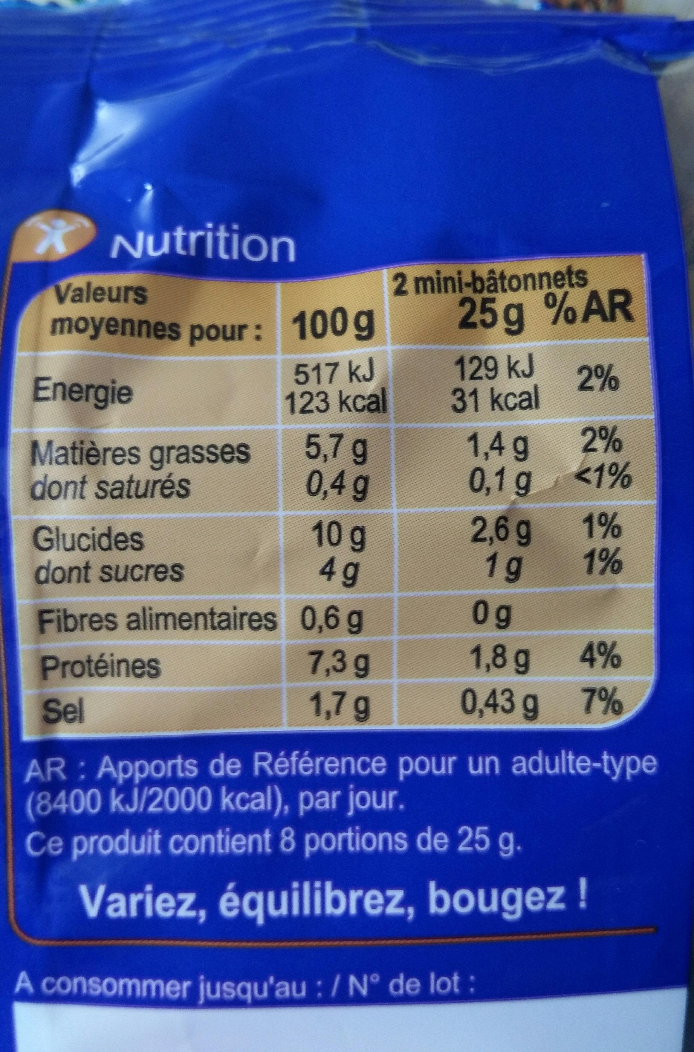 Mini fourrés saveur crabe à la Mayonnaise allégée - Voedingswaarden