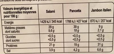 Assortiment sec italien - Voedingswaarden - fr