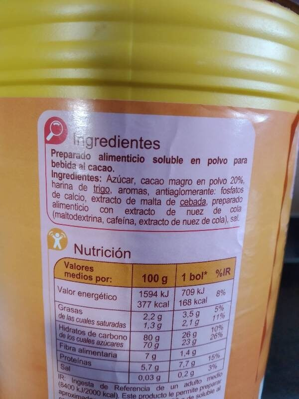 Soluble al Cacao - Ingredientes