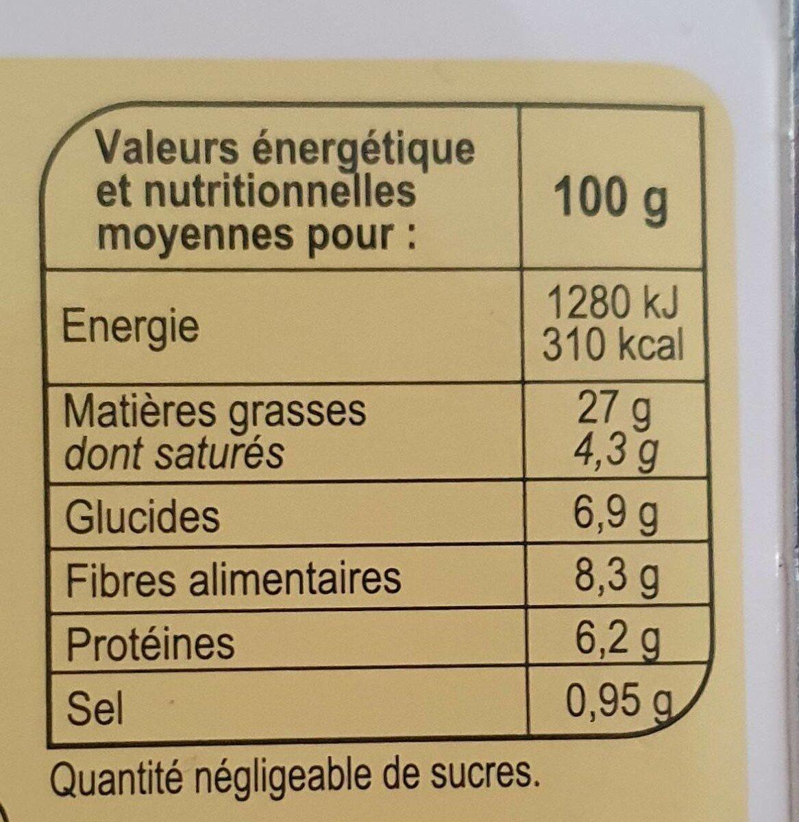 Houmous à la libanaise - Informations nutritionnelles - fr
