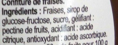 Squiiiz confiture de fraise - Ingrédients
