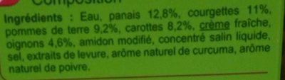 Velouté aux Panais et Courgettes - Ingredienti - fr