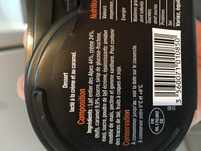 La crème au caramel - Ingrediënten - fr