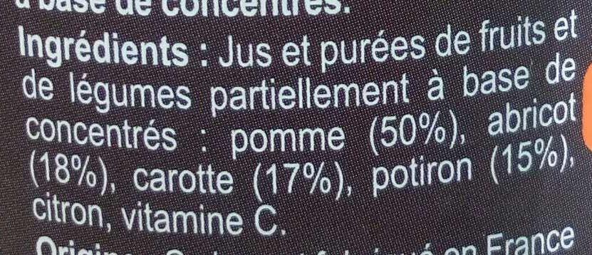 Pomme Abricot Carotte Potiron - Ingredienti - fr