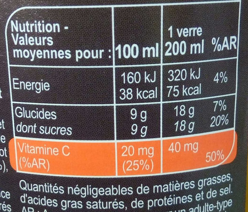 Pomme Abricot Carotte Potiron - Valori nutrizionali - fr