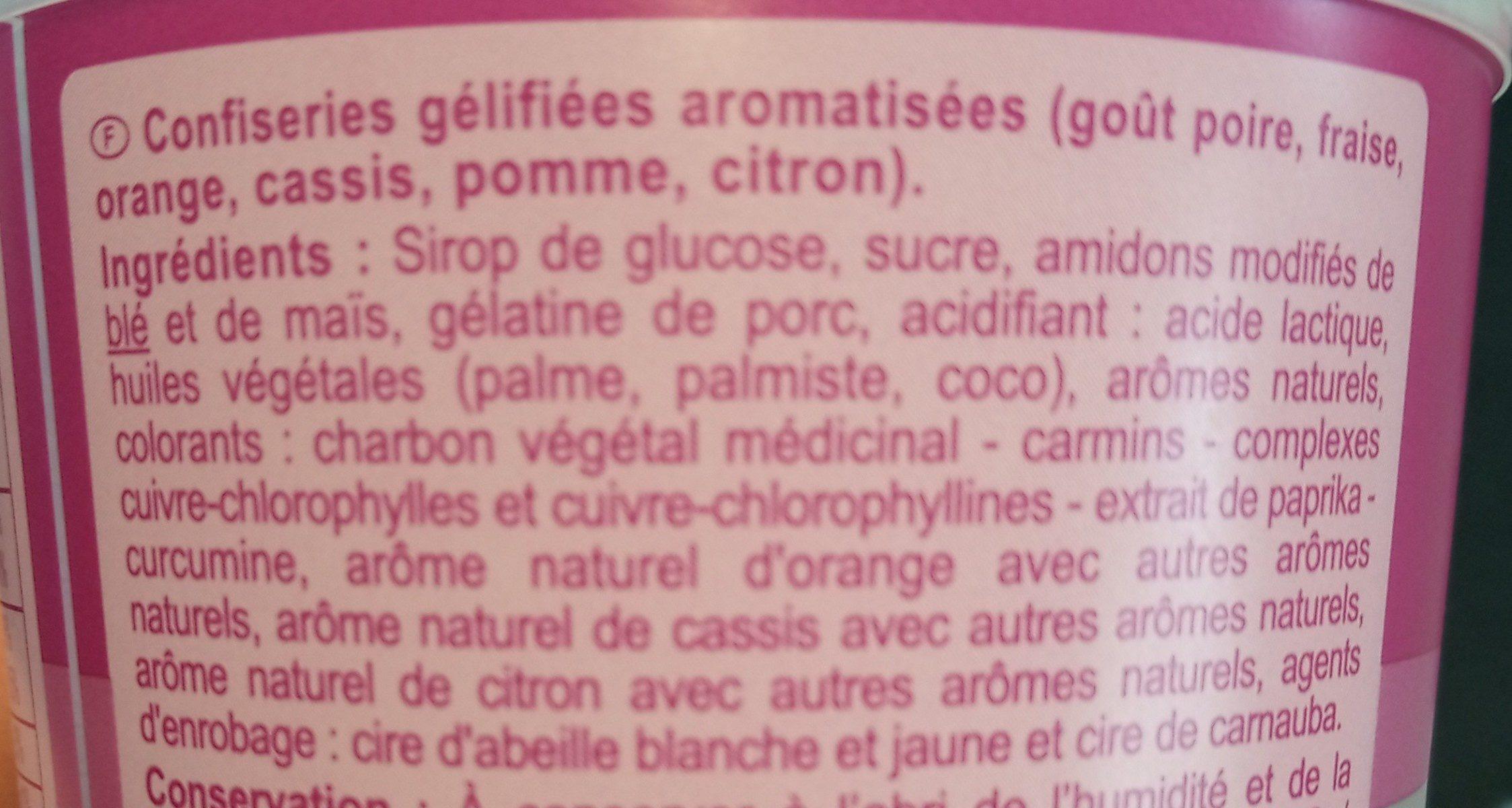 CAR BOX Winegums - Ingredients