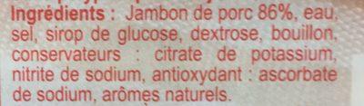 Jambon de Paris cuit à l'étouffée (maxi format) - Ingrediënten - fr