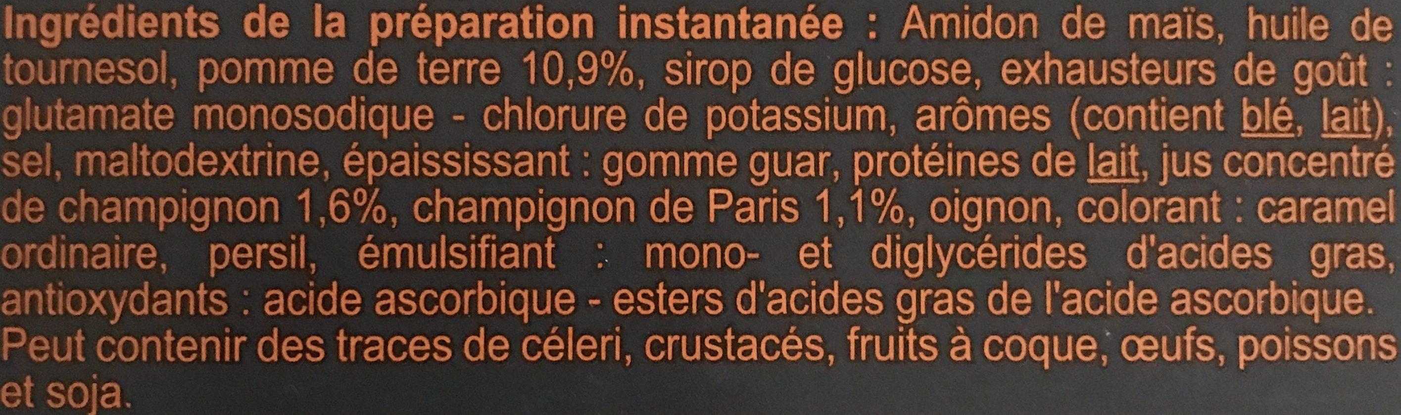 Velouté Champignon Instantané - Ingrediënten