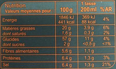Velouté Champignon Instantané - Voedingswaarden