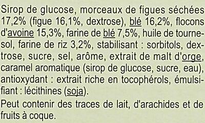 Barres Céréales Saveur Figue - Ingrédients - fr