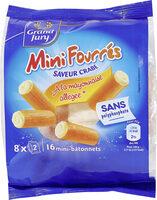 Mini fourrés saveur crabe à la mayonnaise allégée - Prodotto - fr