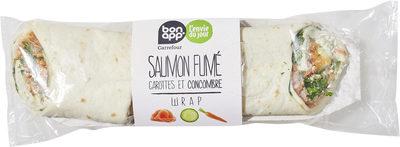 Saumon fume carottes et concombres wrap - Product - fr