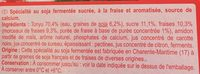 Yaourt soja fraise - Ingredients