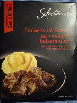 Émincés de bœuf au vinaigre balsamique sauce au soja et purée à la patate douce - Produit
