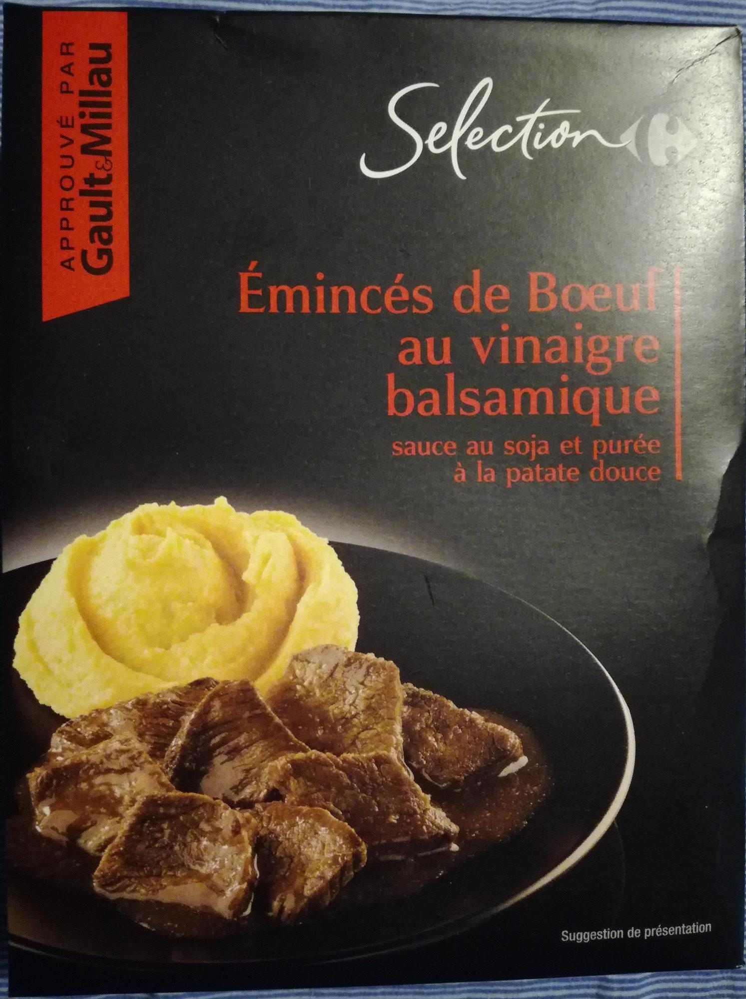 Émincés de bœuf au vinaigre balsamique sauce au soja et purée à la patate douce - Produit - fr