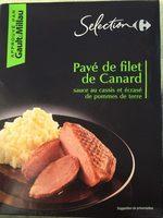 Pavé de filet de canard sauce au cassis et écrasé de pomme de terre - Product - fr