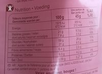 Crunchy noix - Voedingswaarden - fr