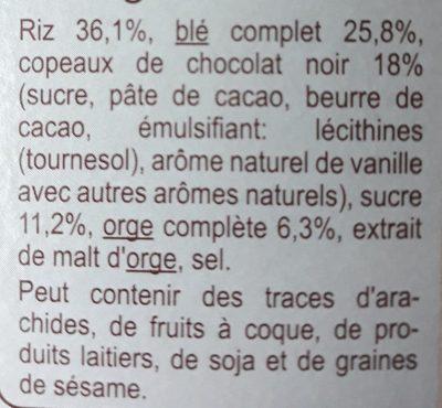 Stylesse Chocolat Noir - Ingredients