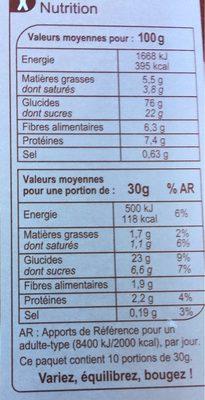 Stylesse Chocolat Noir - Nutrition facts - fr
