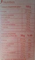 Stylesse Fruits Rouges - Informació nutricional - fr
