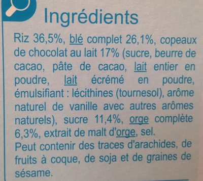 Stylesse Chocolat au Lait - Ingredients - fr