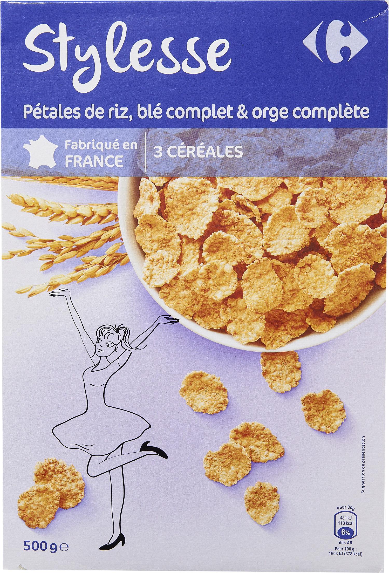 Stylesse pétales de riz, blé complet et orge complète - Producto - es